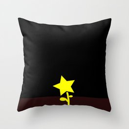 Shinning Star Flower in Dark Throw Pillow