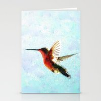 hummingbird Stationery Cards featuring Hummingbird by Nichole B.