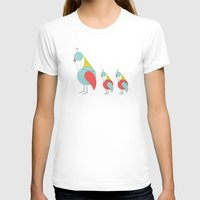 mid century modern T-shirts featuring Mid Century Modern Partridges by Modern South Design