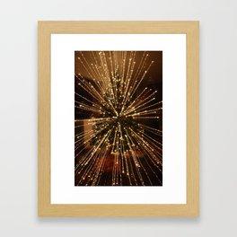 Christmas Tree - Big Explosion Framed Art Print