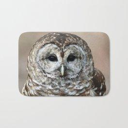 Barred Owl Watching Bath Mat