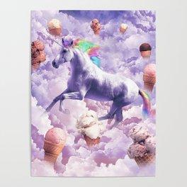 Epic Unicorn Ice Cream Poster