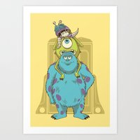 monster inc Art Prints featuring Monster Inc. by Fathi