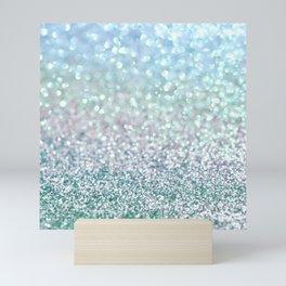 Blue Mist Snowfall Mini Art Print