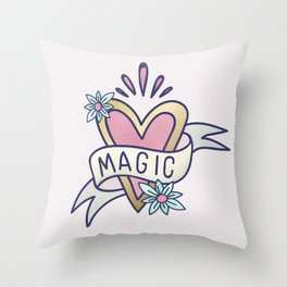 Magic Heart Throw Pillow