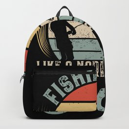 Fisher Fishing Dad Fish Backpack