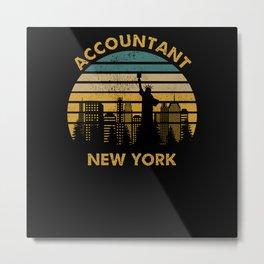 Accountant New York Metal Print