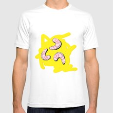 Grits MEDIUM White Mens Fitted Tee