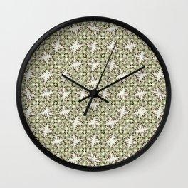 Modern Geometric Check Print Pattern Wall Clock