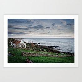 Seaside Cottage Art Print