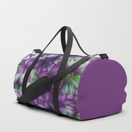 Violets and Greens Duffle Bag