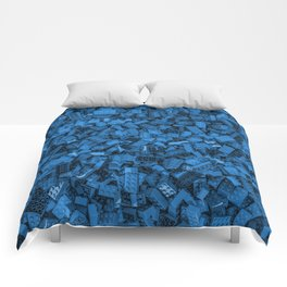 Master builder Blue Comforters