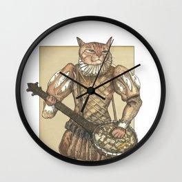 Banjo Cat Wall Clock