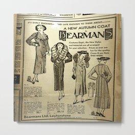 Fashion 1935 Metal Print