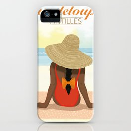 Sunset Guadeloupe white Poster iPhone Case