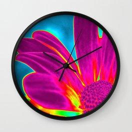 Flower | Flowers | Neon Daisy Wall Clock