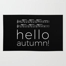 Hello autumn! (black) Rug