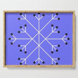 Mod Snowflake Purple Serving Tray