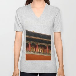 Forbidden City Building Unisex V-Neck