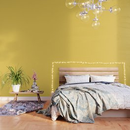 Sunshine Yellow - Solid Color Collection Wallpaper