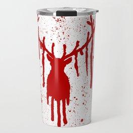 Red Stag Head Travel Mug