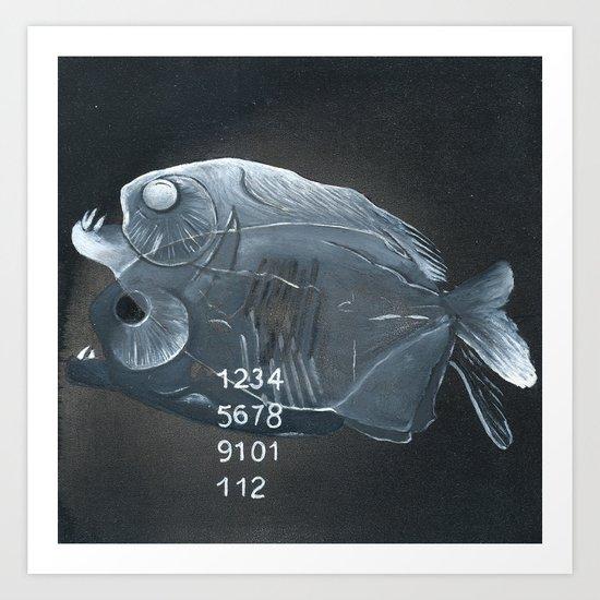 Piranha Paradox  Art Print