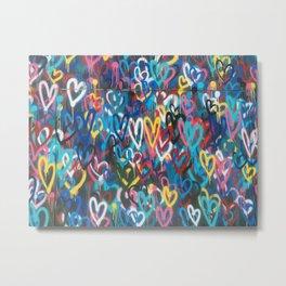 Love Wall Graffiti Street Art Metal Print