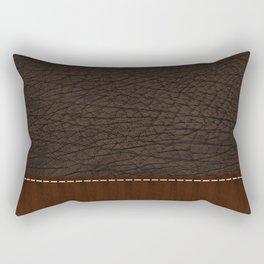 Brown leather look #1 Rectangular Pillow