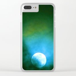 """""""Suspension Moon #64"""" Clear iPhone Case"""