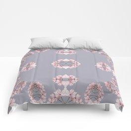 Pale pink wildflowers Comforters