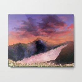 Mountains at Sunrise Metal Print