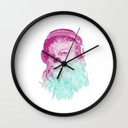 Wookie Beats - Chewie Rockin' some tunes Wall Clock