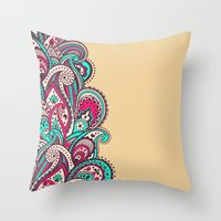 paisley Throw Pillows featuring Paisley by Cultivate Bohemia