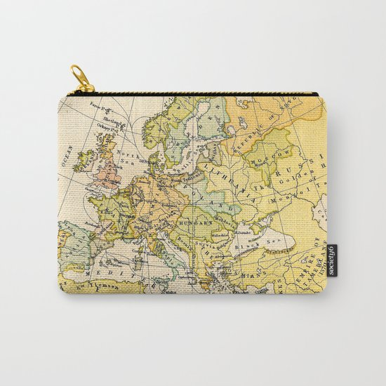 Europe During The 14th Century - Vintage Map Carry-All Pouch