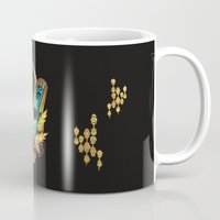 transistor Mugs featuring Like It's Written in the Stars - Transistor by Stephanie Kao