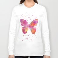artsy Long Sleeve T-shirts featuring Artsy Butterfly by LebensART