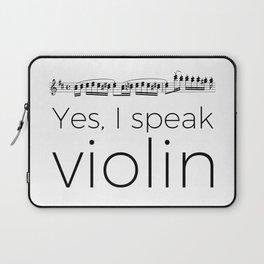Do you speak violin? Laptop Sleeve