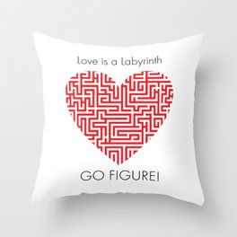 Love is a Labyrinth Throw Pillow
