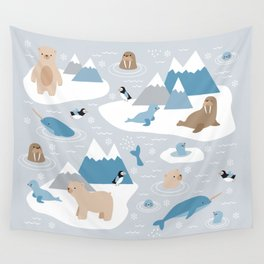 Arctic animals Wall Tapestry
