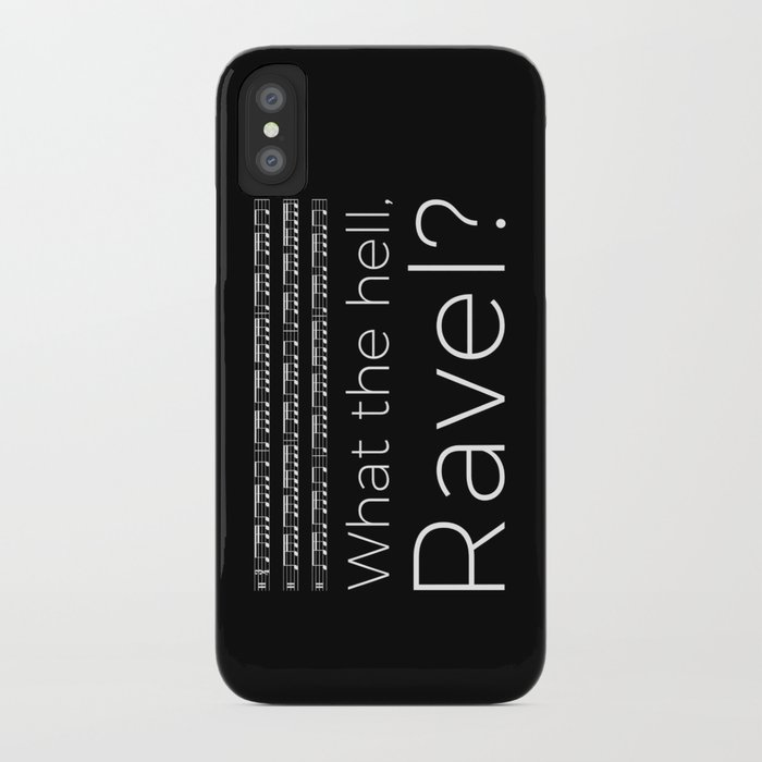 What the hell, Ravel? (black) iPhone Case