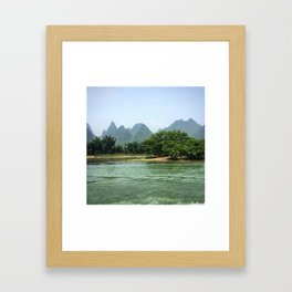 The Sheep & The Mountains Framed Art Print