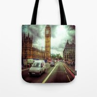 ben giles Tote Bags featuring Ben by Christine Workman