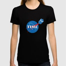 TIME Womens Fitted Tee Black MEDIUM