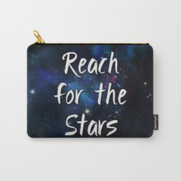 Reach for the Stars Galaxy Nebula Inspirational Quote Carry-All Pouch