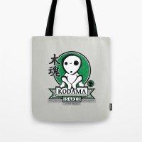 kodama Tote Bags featuring Kodama Sake by adho1982