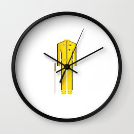 American Martial Arts Assassin Film Costume Minimal Sticker Wall Clock