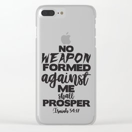 Isaiah 54:17 Clear iPhone Case