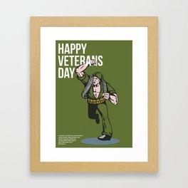 World War two Veterans Day Soldier Card Framed Art Print