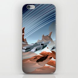 Steel and Rock iPhone Skin