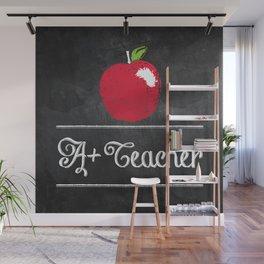 A+ Teacher Wall Mural